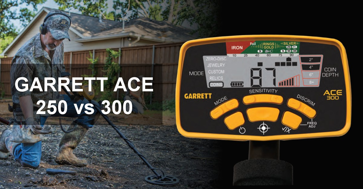 garrett ace 300 vs 250 1 - Garrett Ace 250 vs 300 Metal Detector (9 Important Differences)
